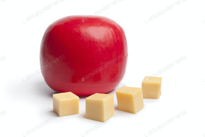 Dutch Edam cheese and cubes