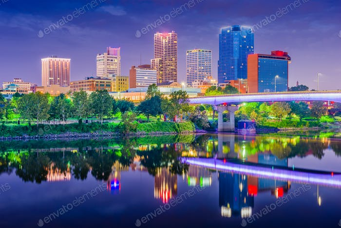 Little Rock, Arkansas, USA Skyline