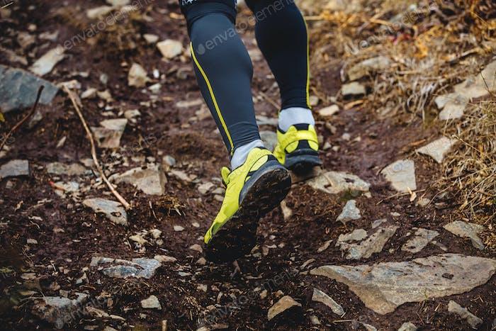 Beine Läufer Skyrunners Mann