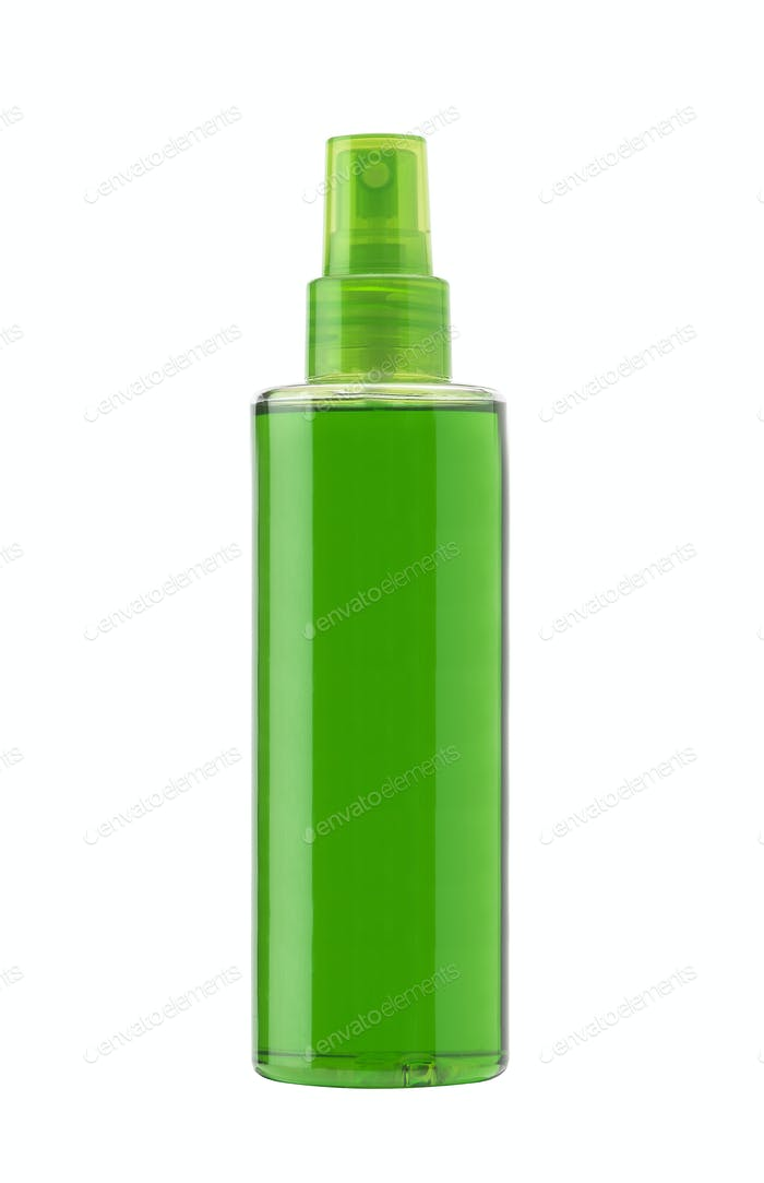 Thumbnail for Green plastic bottle isolated