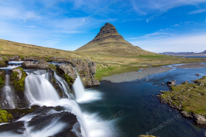 The iconic Kirkjufell in Iceland
