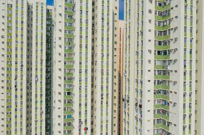Architecture building facade