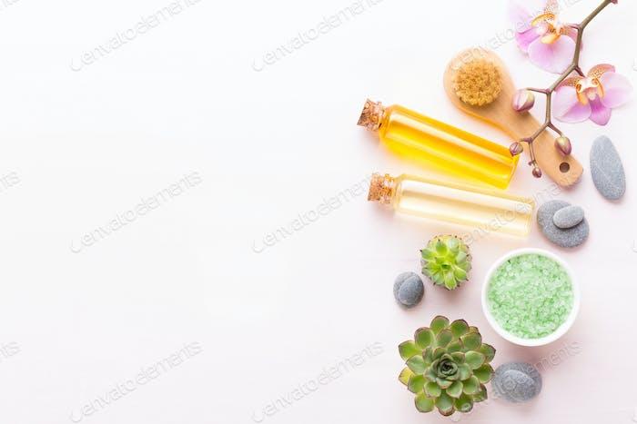 Aromatherapie Thema, handgemachte Bio-Kosmetik.