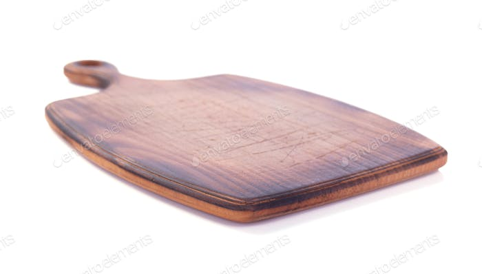 cutting wooden board or tray isolated on white