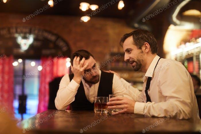 Two Drunk Businessmen in Bar