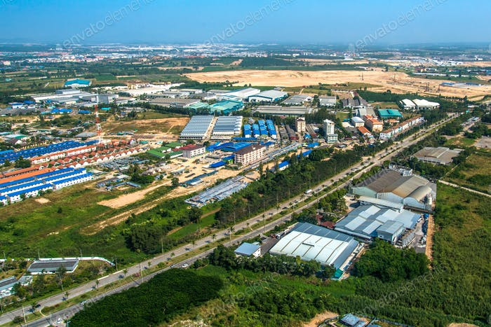Industrial estate residential land development in Asia