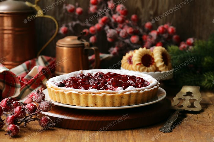Homemade Cherry Pie Tart