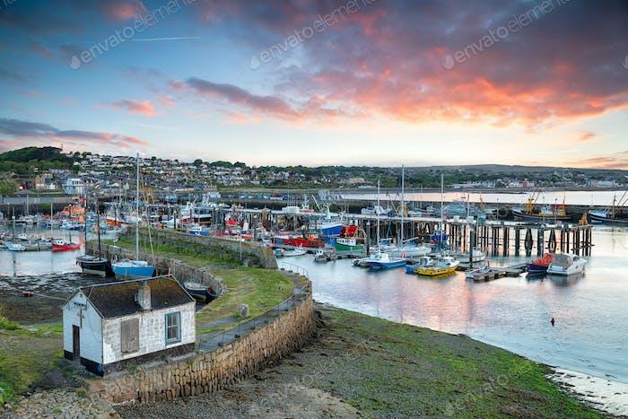Sunrise at Newlyn in Cornwall