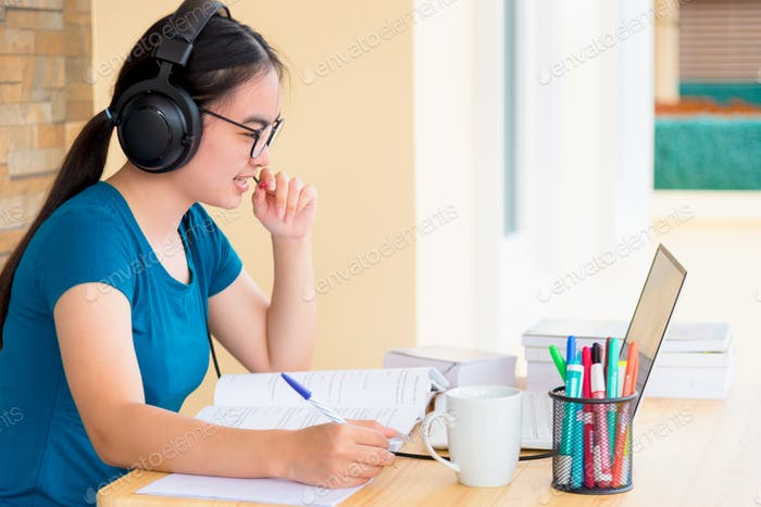 Distance learning online from home