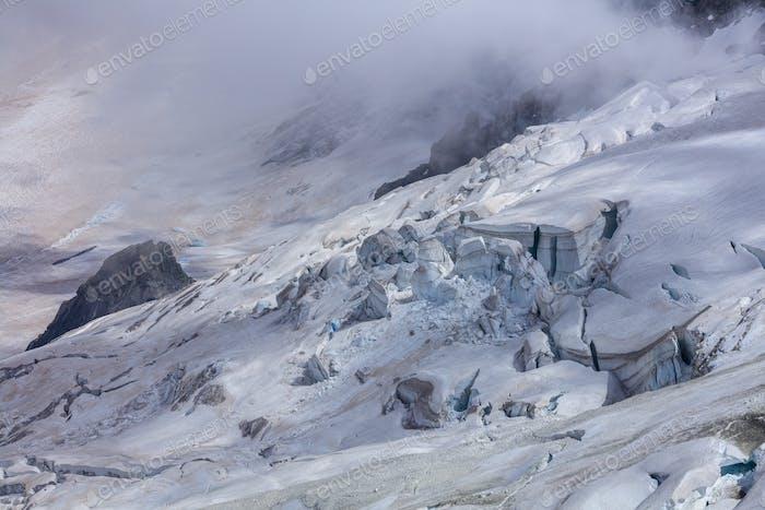 Glacier des Rognons. Mont Blanc, France