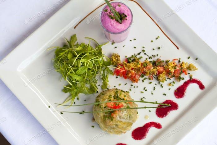 Plato gastronómico