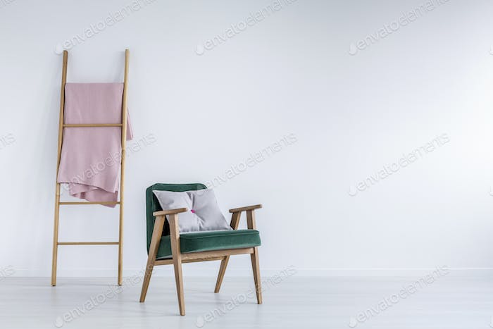 White room with ladder
