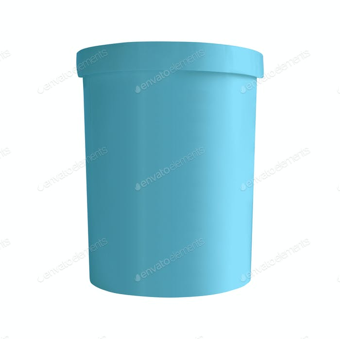 Blue bucket isolated on white