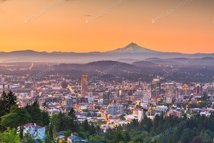 Portland, Oregon, USA downtown