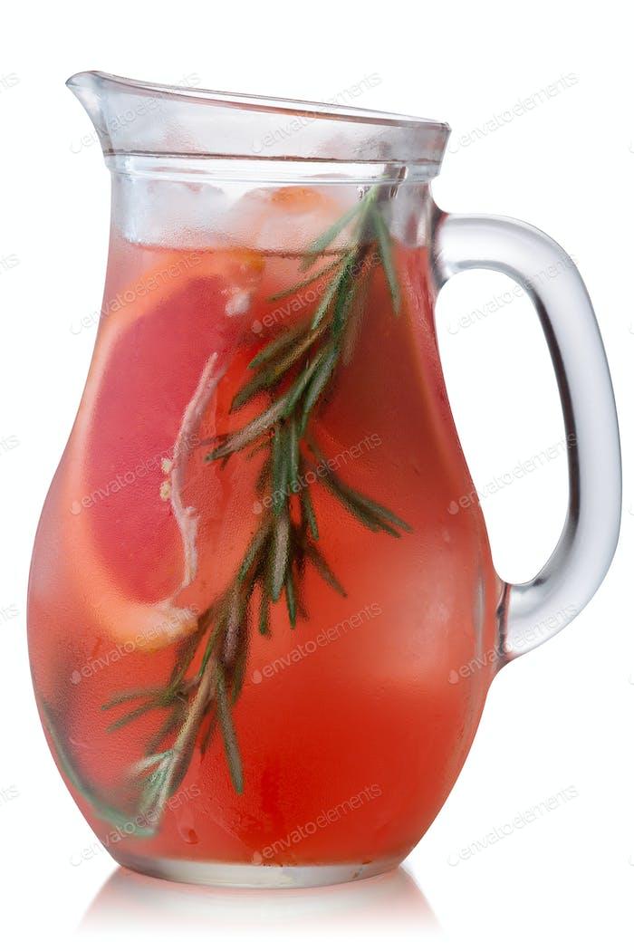 Rosemary grapefruit lemonade jug, paths
