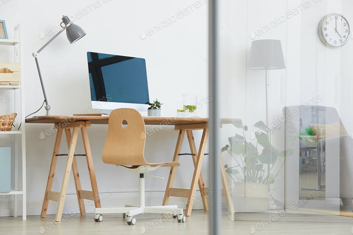 Workplace in the living room