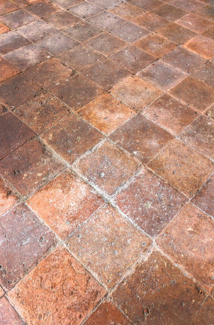 Old terracotta floor