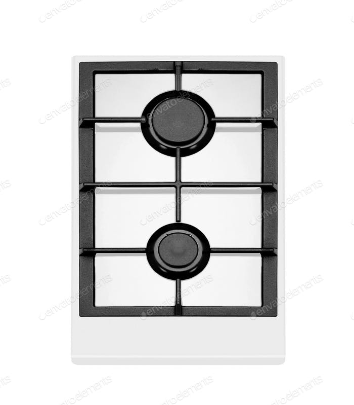 modern gas stove two burners