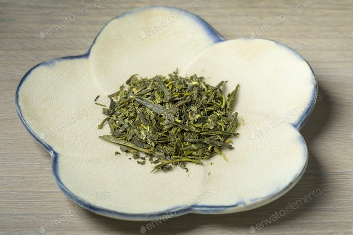 Bowl with Japanese green tea