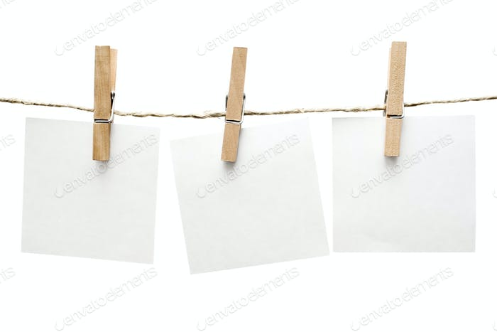Announcements Isolated on a White Background