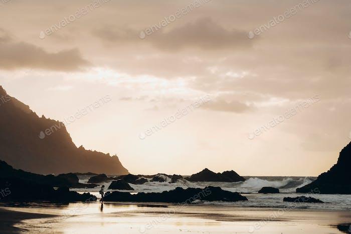 Benijo beach on the north coast of the island Tenerife, Spain