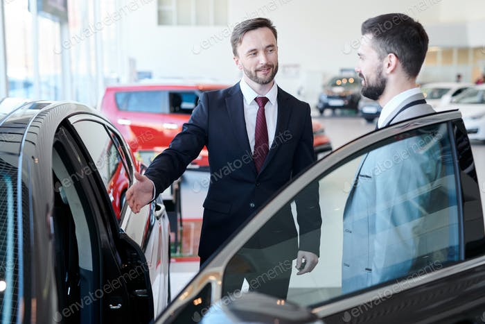 Businessman Buying New Car