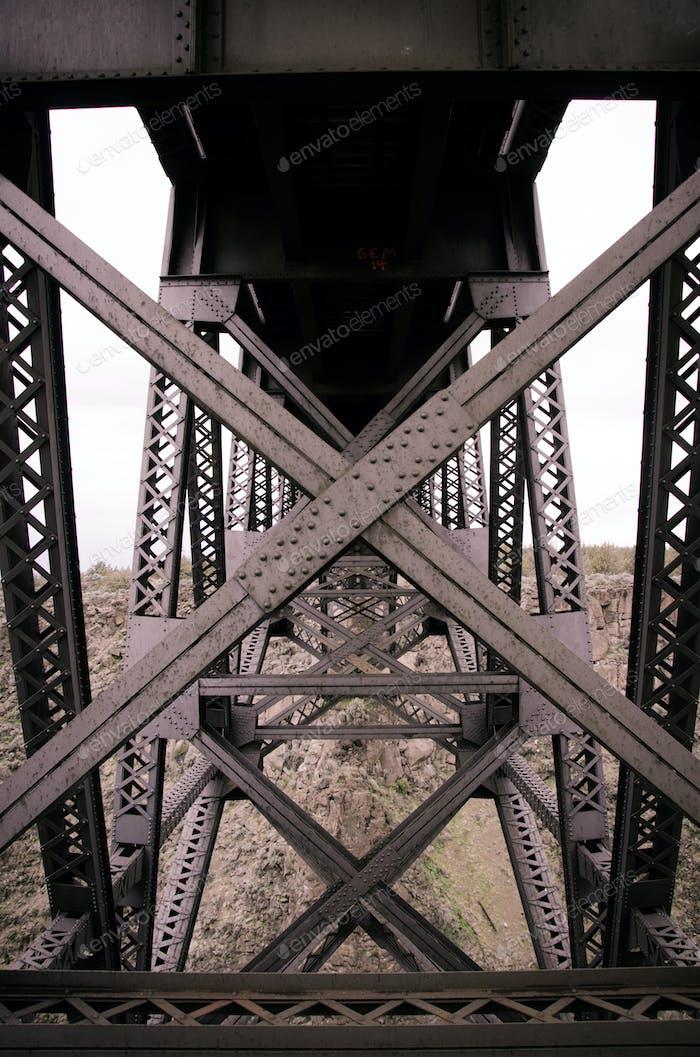 Underneath a Train Trestle
