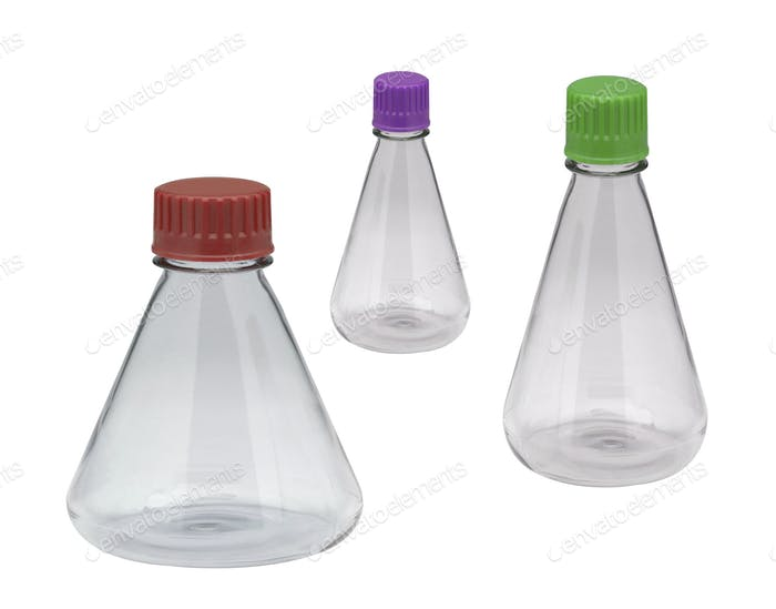 Chemical laboratory flask isolated
