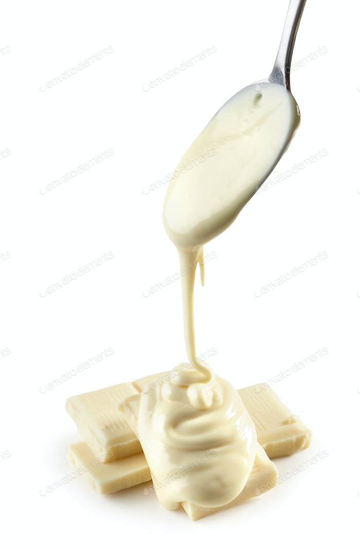 melted white chocolate
