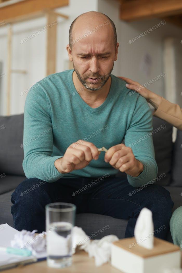 Man has a nervous breakdown