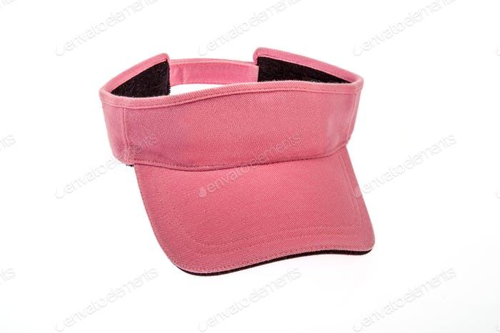 Men's pink golf visors