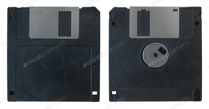 Vorder- und Rückseite Diskette