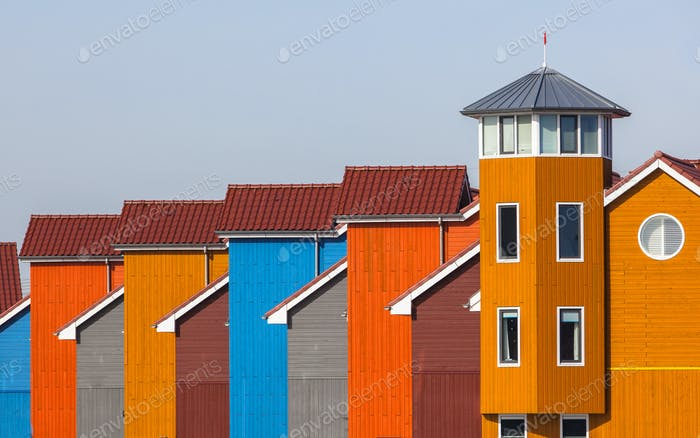 Terraced Colorful Houses