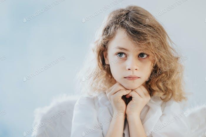 Little girl as an angel