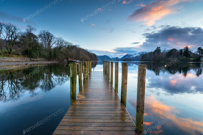 Sunset over Derwentwater