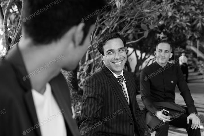 Persian businessmen exploring the city of Bangkok together