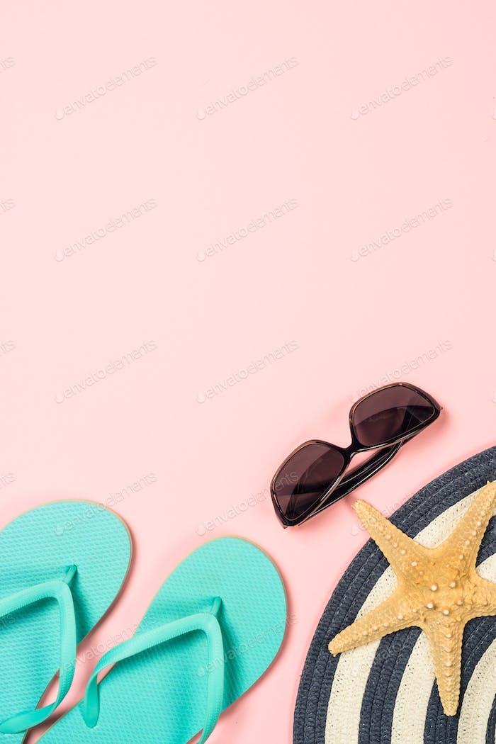 Sommer Reisen Urlaub Urlaub Hintergrund flach lag