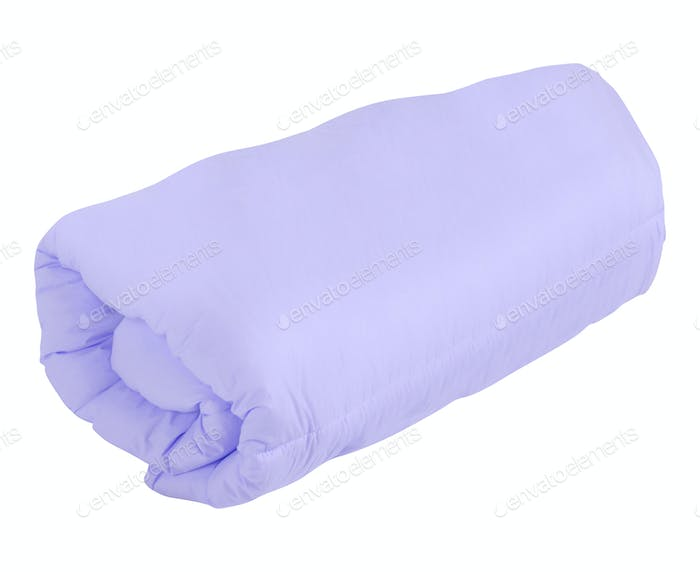 purple blanket isolated