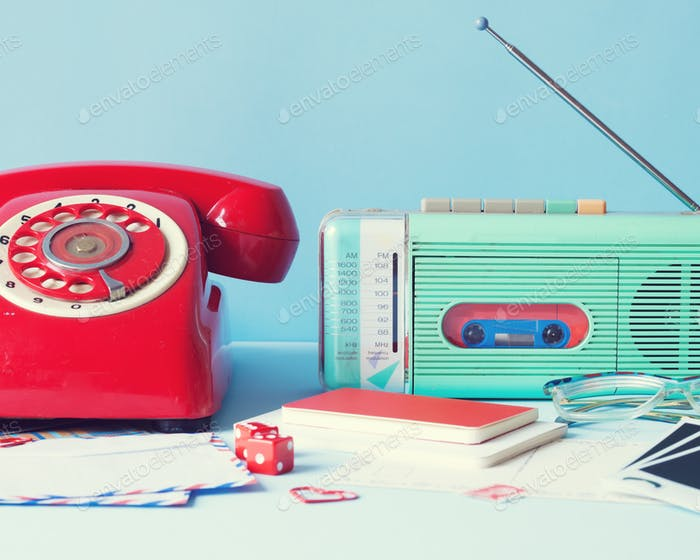 Retro telephone and radio