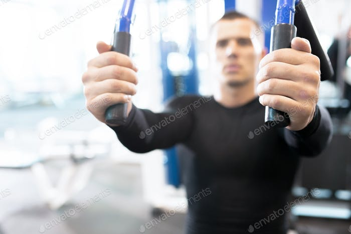 Blurred Portrait of Man in Gym