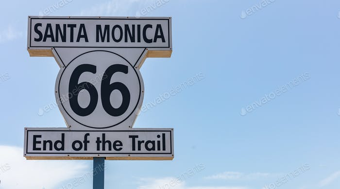 Route 66 Santa Monica End of the trail.