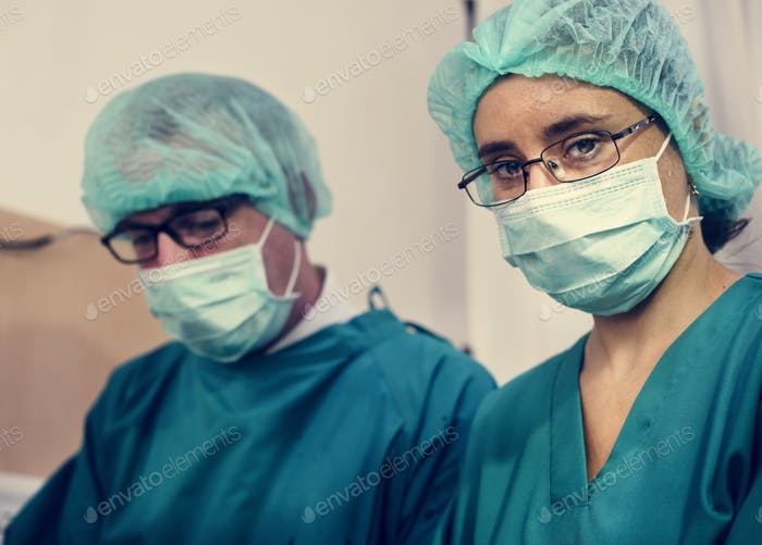 Doctors preparing for an operation