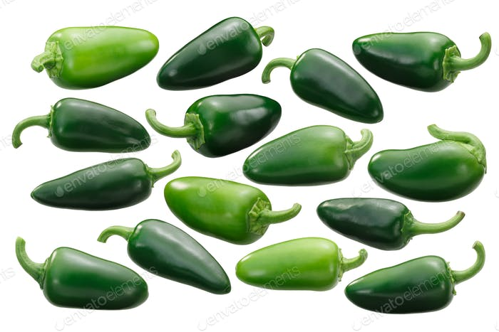 Whole jalapeno peppers, paths