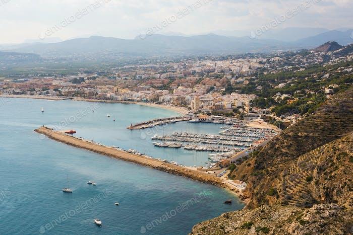 Javea Xabia village in Mediterranean sea of Alicante, Spain