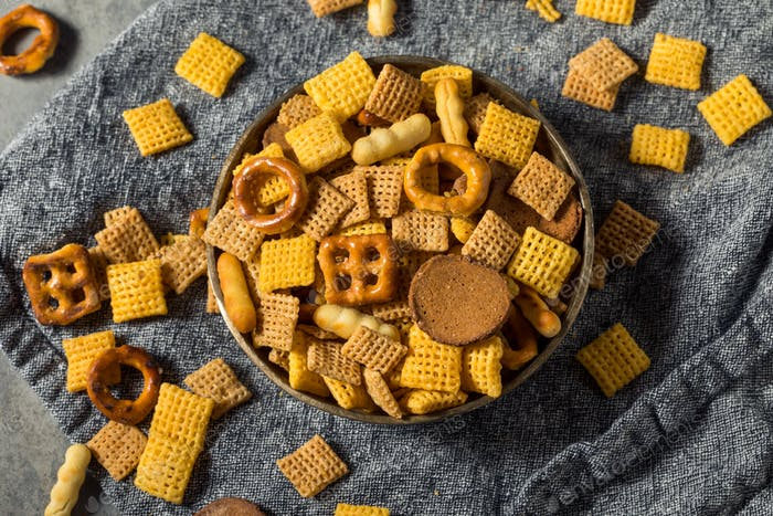 Homemade Salty Party Snack Mix