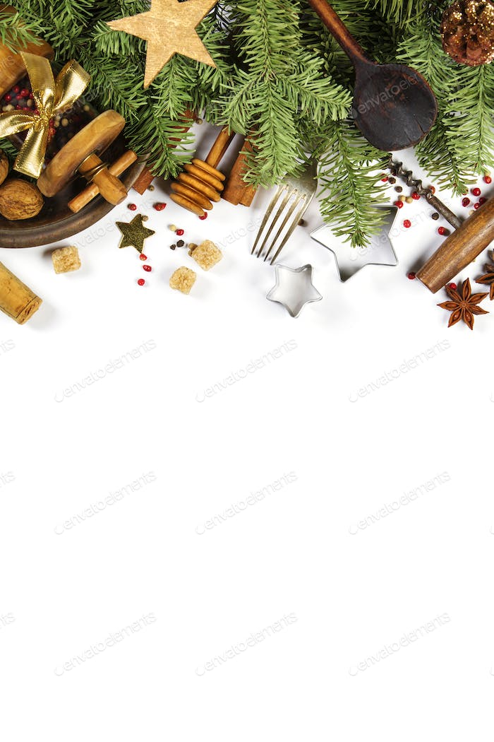 Christmas cooking background - space for your text