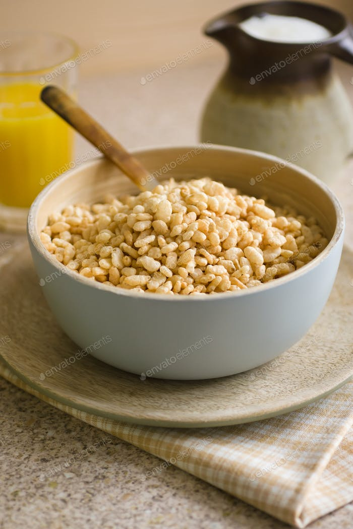 Crispy Puffed Rice Cereal