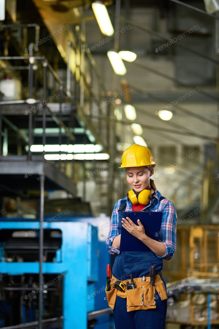 Female Worker at Factory
