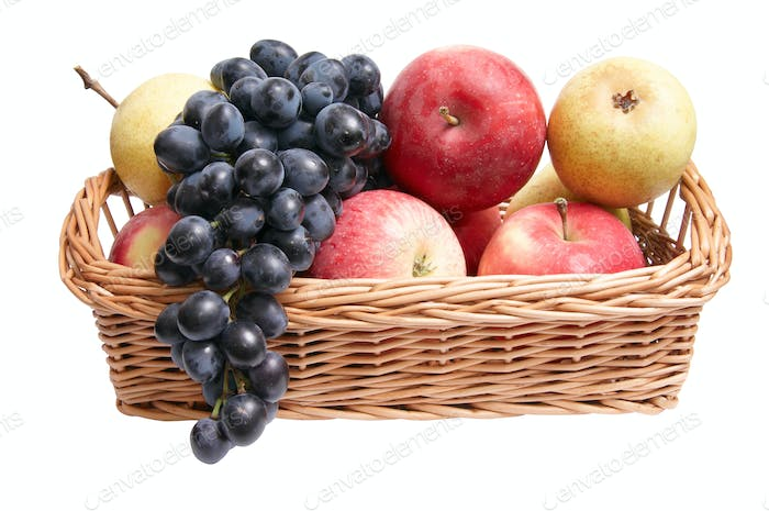Tasty,juicy fruit in the basket.