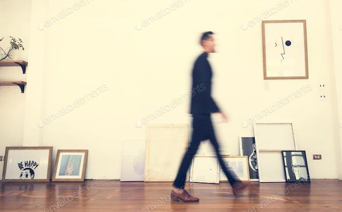 People walking in an office